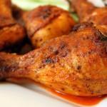 muslos pollo al horno muy dorados