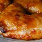 pollo al horno con la salsa