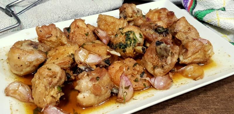 pollo receta ajillo