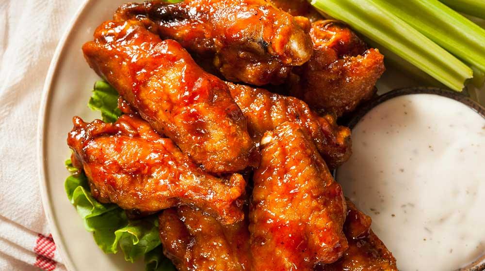 muslos pollo comida