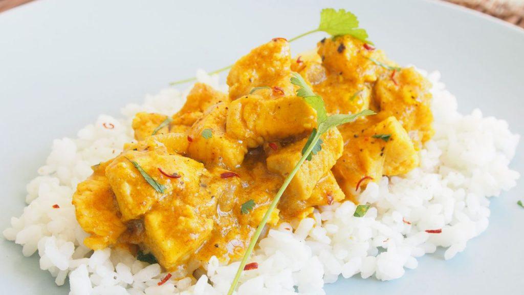 pollo curry arroz