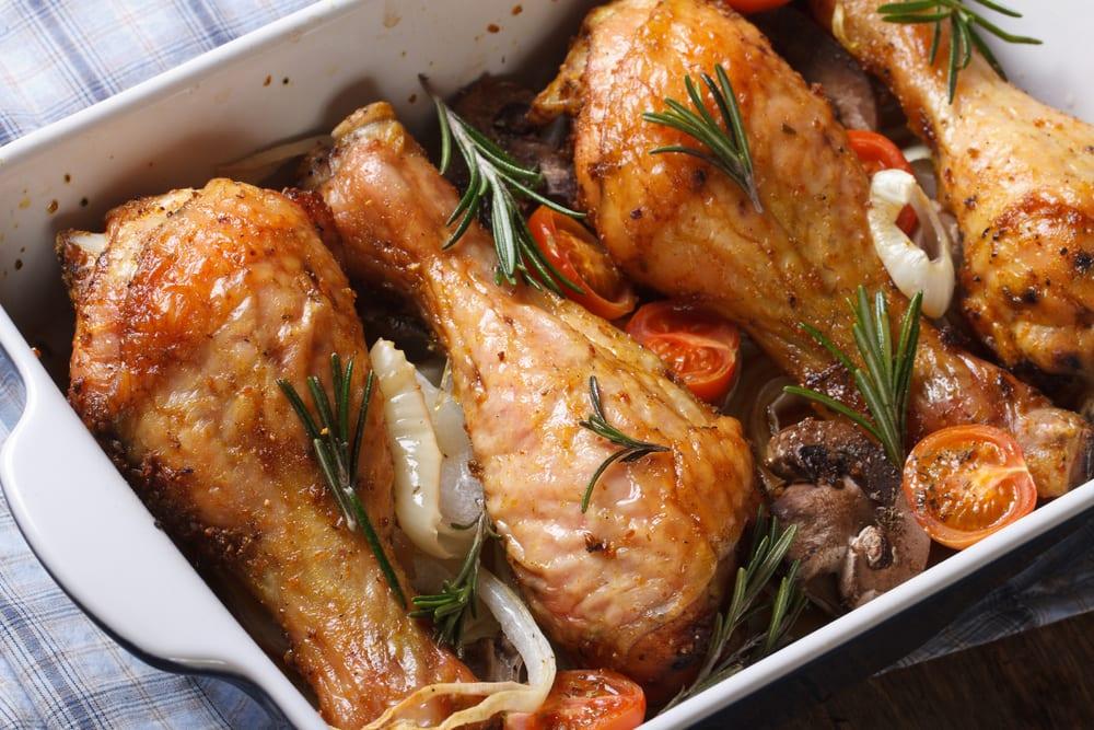 muslos pollo horno plato