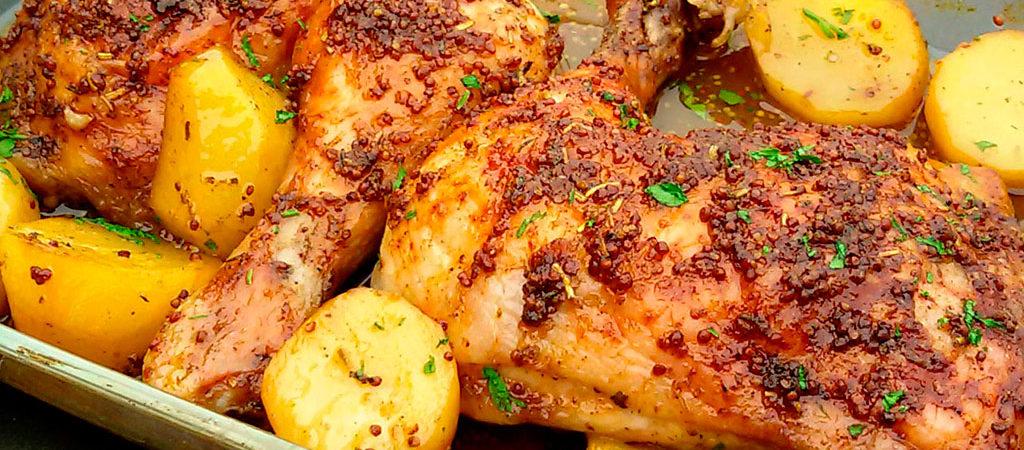 papas pollo al horno