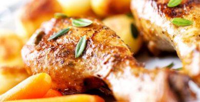 pollo corral guisado